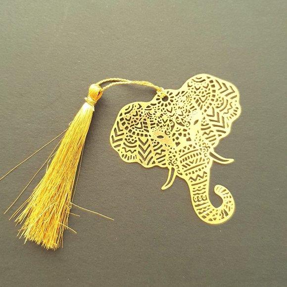 Bookmark Indian Design- metal cutting- Elephant